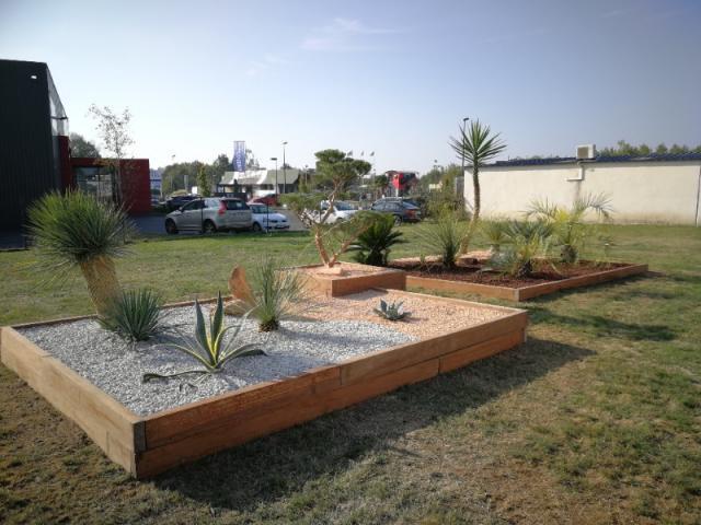 Création d'un jardin Mexicain pour une entreprise près de Nantes