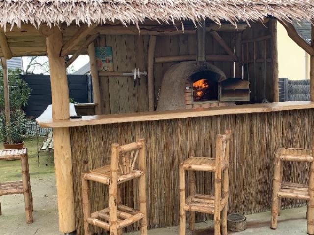 Création d'un bar d'extérieur en bambou près de Nantes